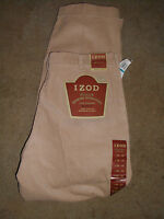 Mens New Tan Izod Pleated 8 Whale Corduroy Pants Size 36 x32