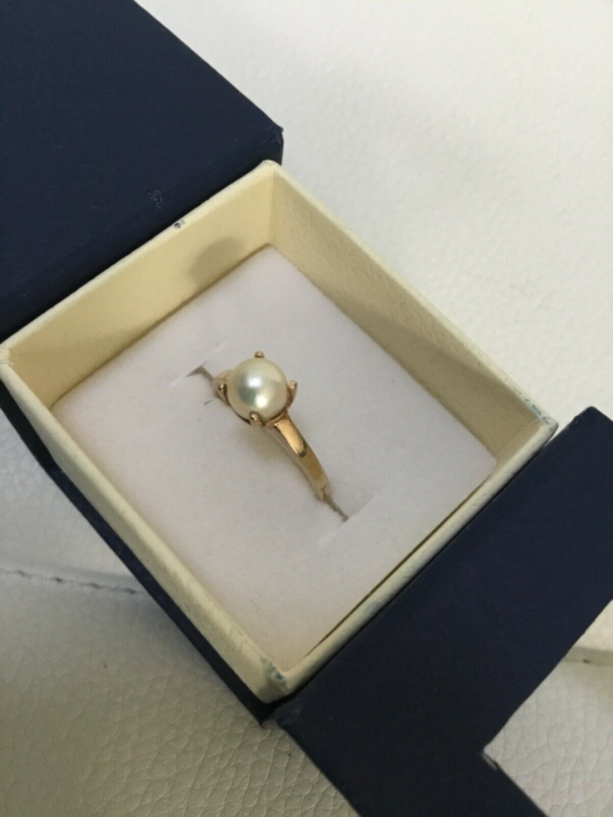Vintage 10k gold and pearl - image 4