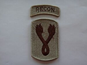 2-US-Army-Desert-Tan-Patches-RECON-us-196th-Light-Infantry-Brigade-CHARGERS