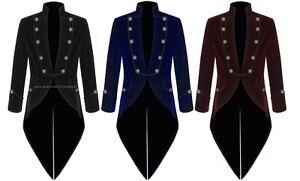 Men-039-s-Velvet-VLADIMIR-TUXEDO-Jacket-Tail-coat-Goth-Steampunk-Victorian