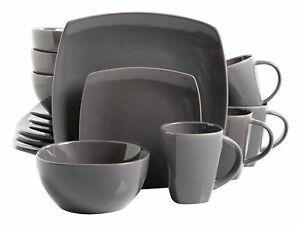 Gibson Dinnerware Set Home Soho Lounge Square 16 Piece Dishes ...
