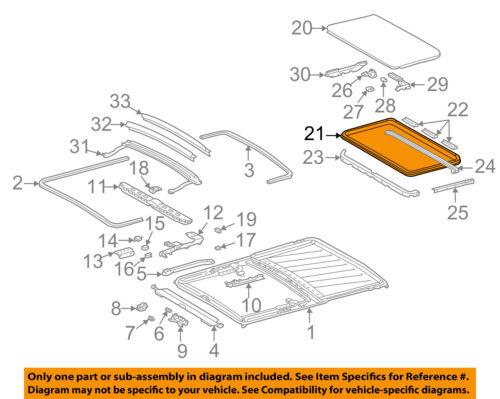 MERCEDES OEM 94-99 S320 Sunroof-Panel Seal 1407800098