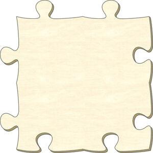 blanko holzpuzzle teil unendlich s 10 2 x 10 2 cm bemalen basteln gestalten ebay. Black Bedroom Furniture Sets. Home Design Ideas