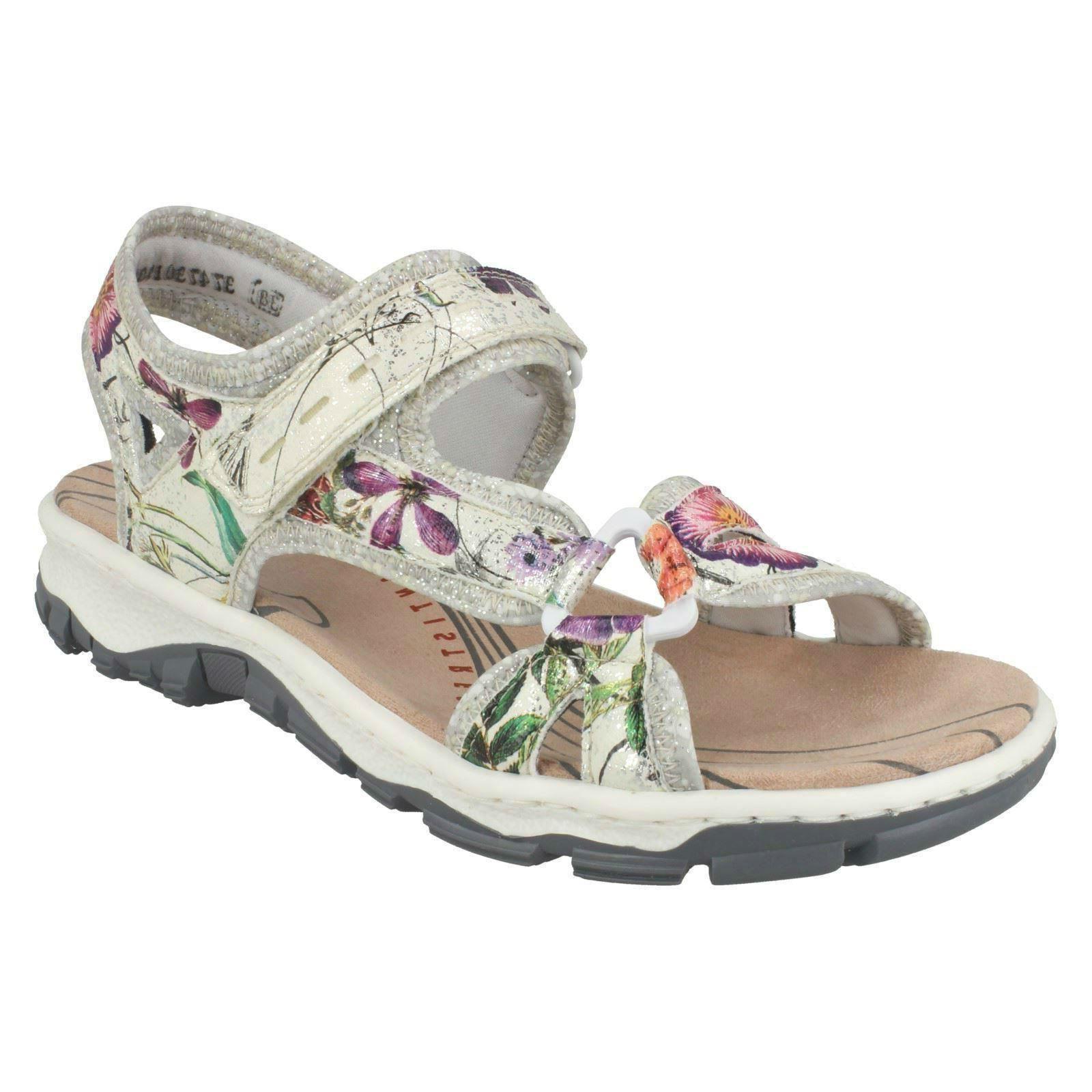 RIEKER LADIES 68879 RIPTAPE HIKING WALKING BEACH Schuhe CASUAL SLINGBACK SANDALS