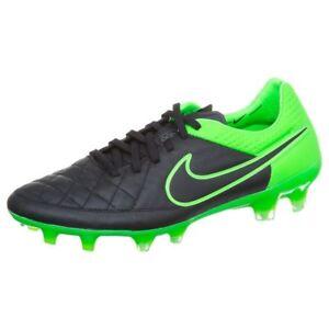 Details Zu Nike Tiempo Legend V Fg Fussballschuhe Schwarz Grun Nocken 631518 003