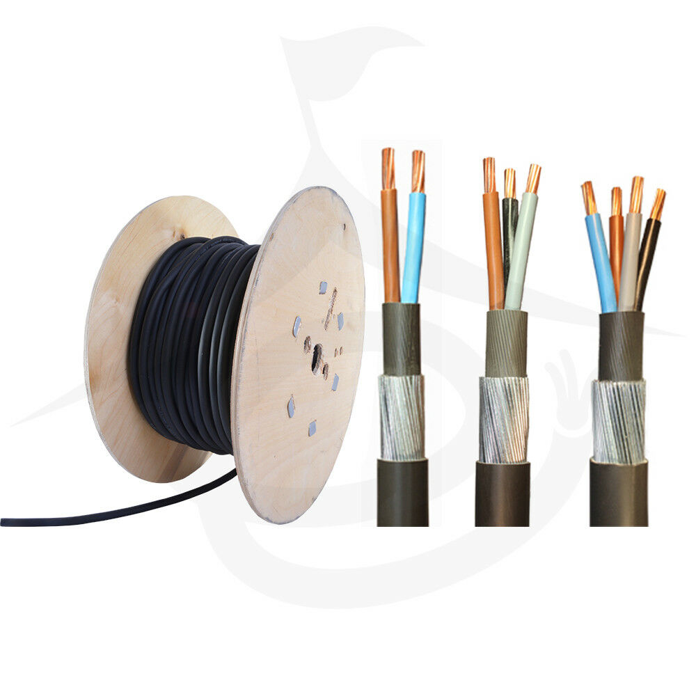 ARMOURED CABLE 4MM 3 CORE SWA CABLE PER 10M DRUM