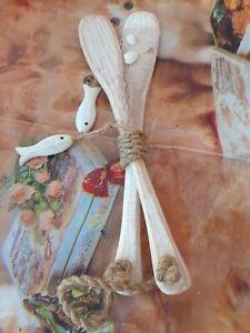 Décoration Marin sur cuillère en bois de cuisine