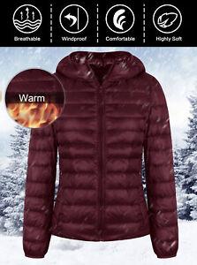 Women-039-s-Packable-Down-Jacket-Ultralight-Stand-Collar-Coat-Winter-Hoodie-Puffer