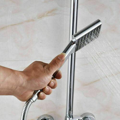 """8"""" Wall Mount Shower Faucet Set Rainfall Head Hand Shower Tub Filler Mixer Tap"""