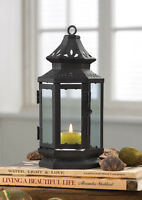 8 Black Stagecoach Small Candle Lantern Wedding Table Centerpieces 8 Tall13361