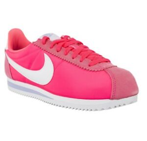 check out f6852 0e082 Details about New Nike Classic Cortez Nylon Pink Girls Womens Trainers Size  UK 4.5 5 6 6.5