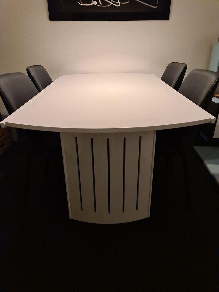 Spisebord, Hvid højglans, Ved ikke