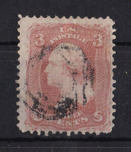Intelligent United States : 1861 3 Cents Washington ( Scott 65 ) Nice Cancelled