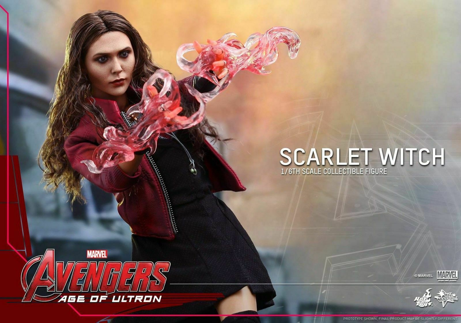 (EE. UU.) HOT TOYS 1 6 MMS301 MARVEL VENGADORES SCocheLET WITCH figura remitente original