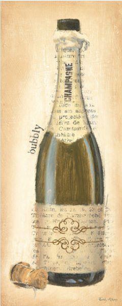 Emily Adams   Bubbly champagne bottle barella-immagine Schermo BOTTIGLIA VINO