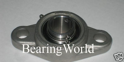 """SUCSFL205-16 1/"""" Stainless Steel 2 Bolt Flange Bearing"""