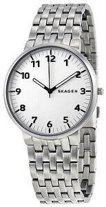 Skagen-SKW6200-Ancher-Silver-Dial-Stainless-Steel-Men-039-s-Watch