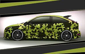 Camouflage Aufkleber Set Cyber Pixel Autotattoo Auto Sticker Tuning