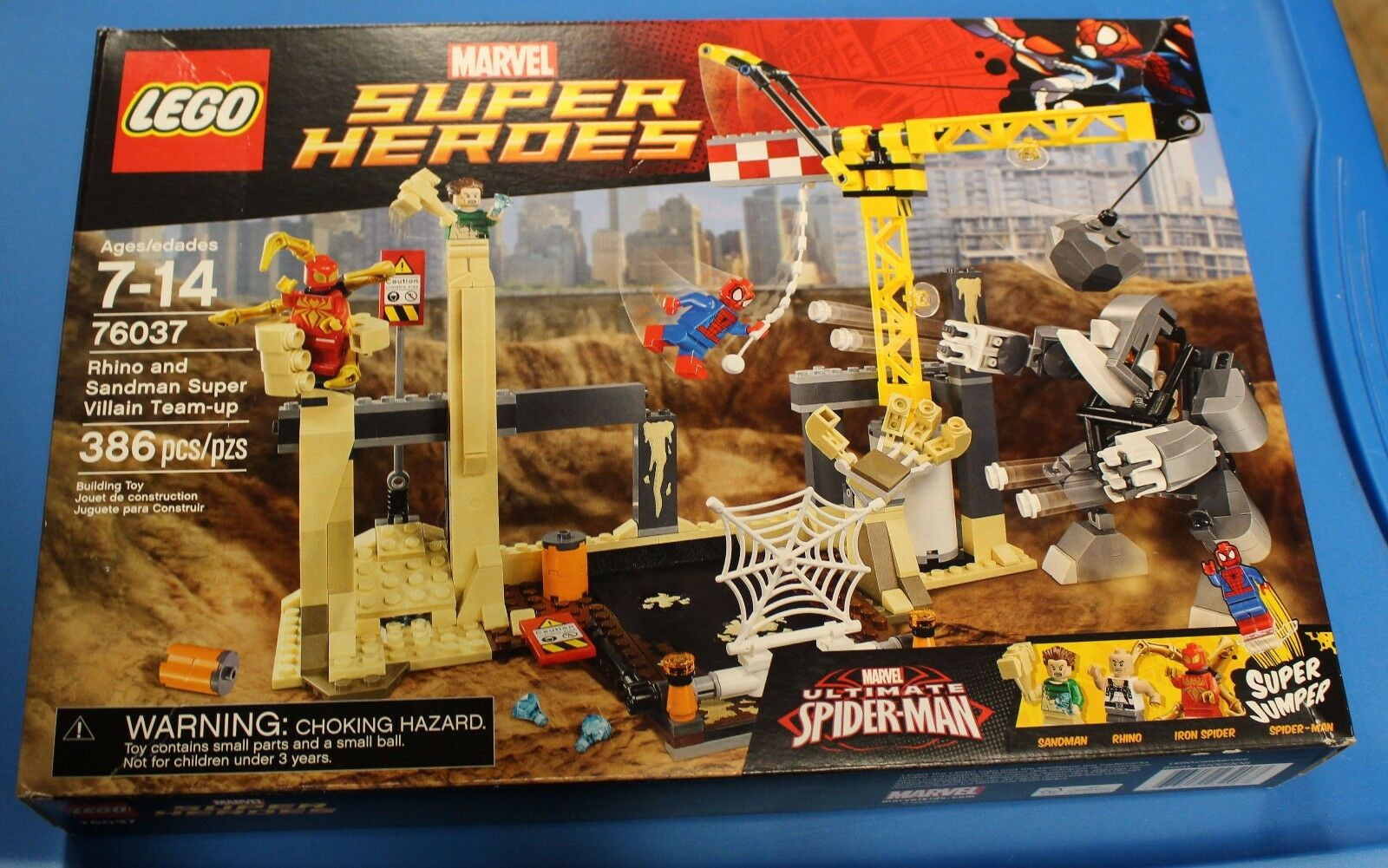 LEGO 76037 RHINO +SANDMAN SUPER VILLAIN TEAM UP FACTORY SEALED NEW Iron Spider
