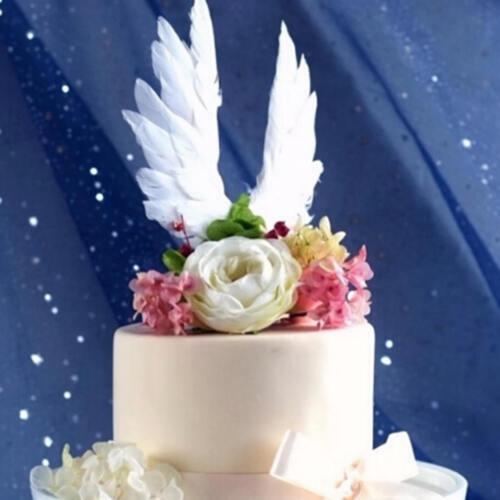 Schwan Flügel Hochzeitstorte Topper für Valentinstag Dekor FederPartei liefertAB