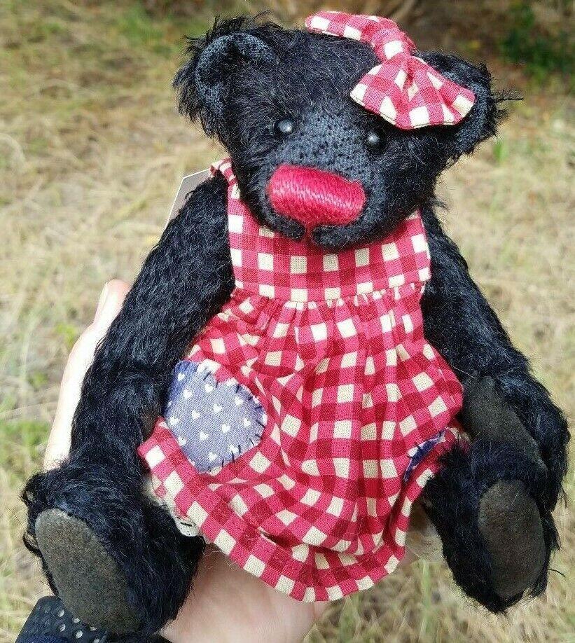 DEB CANHAM Artist Designs CISSIE, Bigger Bears Coll., LE mohair 8  BEAR TEDDY