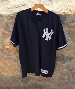 best loved 786a6 54844 Details about VINTAGE 90's New York Yankees Authentic MLB Batting Practice  Jersey USA Mens XL