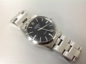 Rolex Oyster Perpetual Air King Precision 34mm Black Dial Watch