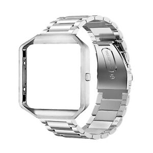 Replacement-Strap-Watch-Band-Frame-For-Fitbit-Blaze-Watch-Band-Stainless-Steel