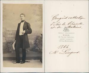 Congrès Catholique de Malines, Mr Lingens CDV vintage albumen. Tirage albuminé