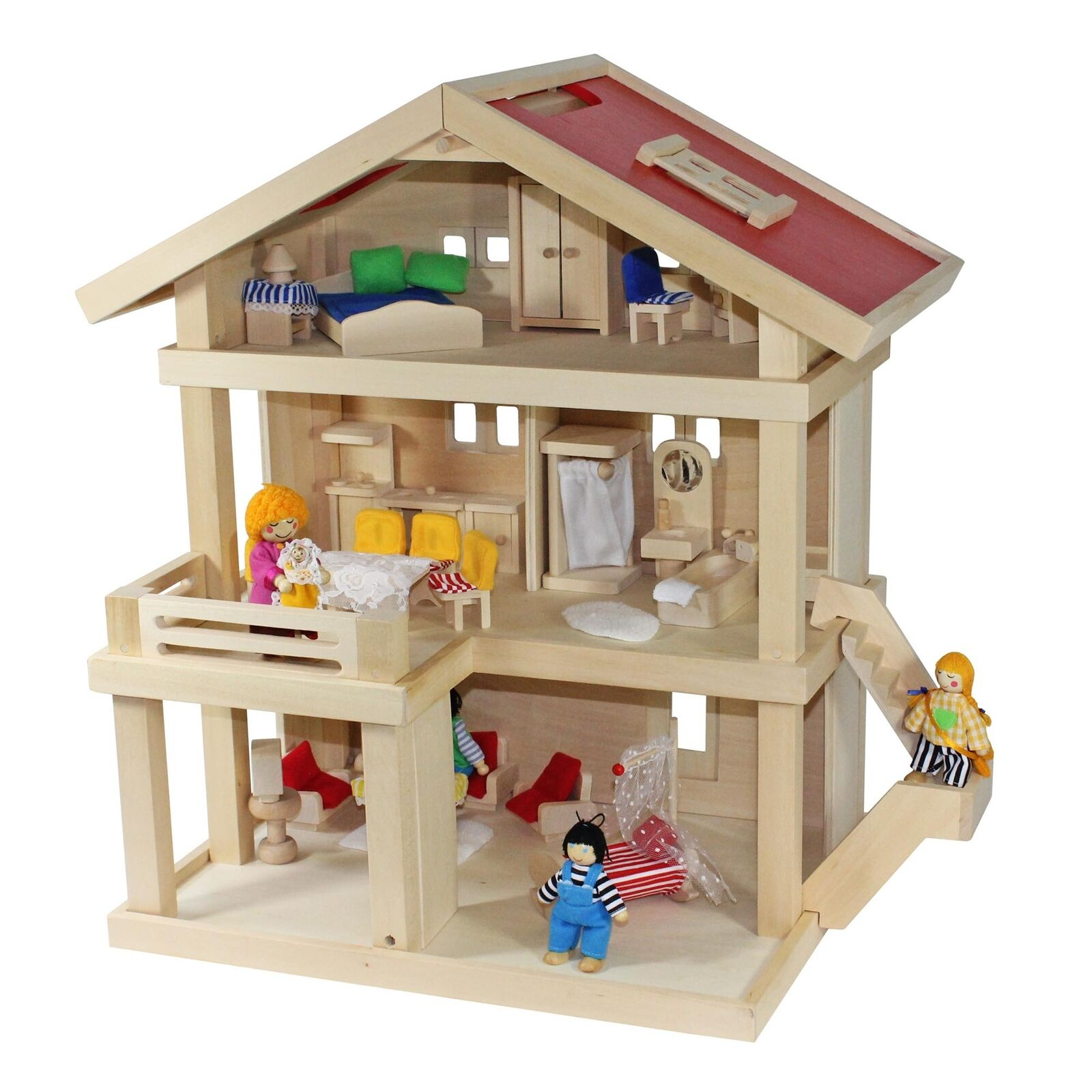 Villa Frossoa casa delle Bambole Villa Città + Famiglia Bambole + casa delle bambole mobili + baby culla