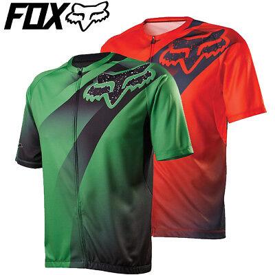 Orange - Green S M L XL Fox Livewire Descent Cycling Jersey 2016