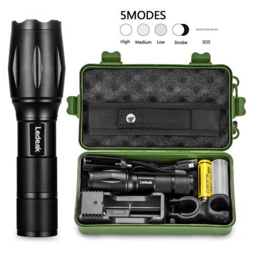 Ledeak T6 Upgrade L2 CREE 1200 LM DEL Torche 5 Modes Zoomable étanche