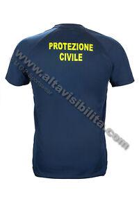 T-SHIRT-TECNICA-BLU-TRASPIRANTE-MAGLIETTA-PAYPER-PROTEZIONE-CIVILE-CON-STAMPA