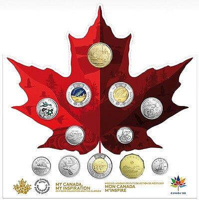 Kanada Kursmünzensatz 2017 st 150. Jahrestag der Staatsgründung Kanadas
