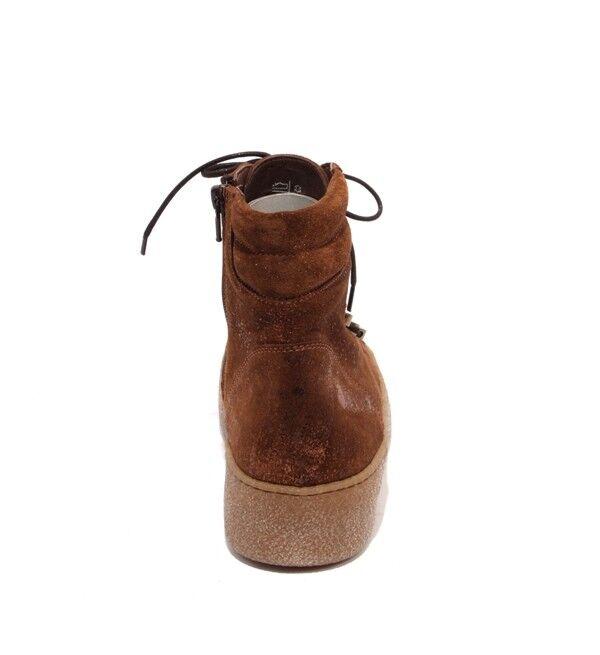 damen damen damen Piu 10619 braun Sparkle Suede Zip Lace-Up Ankle Platform Stiefel 37   US 7 e95955