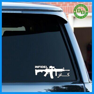 American Infidel Vinyl Car Laptop Decal Sticker