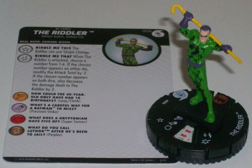 THE RIDDLER FF006 Batman and His Greatest Foes Joker/'s Wild HeroClix Fast Forces