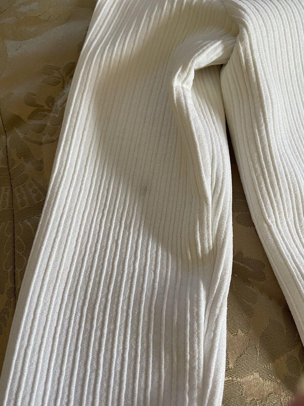 Azzedine Alaia White Long Sleeve Top Blouse Dress… - image 10