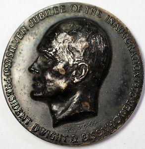 1978-Dwight-D-Eisenhower-Ike-Jubilee-High-Relief-Dinner-Medal-Nickel-Silver