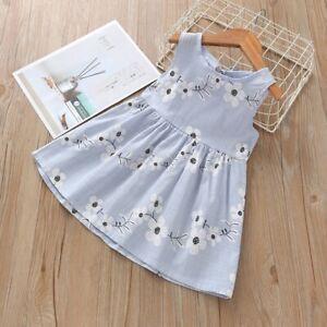 Fashion-Baby-Kids-Girl-Summer-Sleeveless-Flower-Print-Princess-Dresses