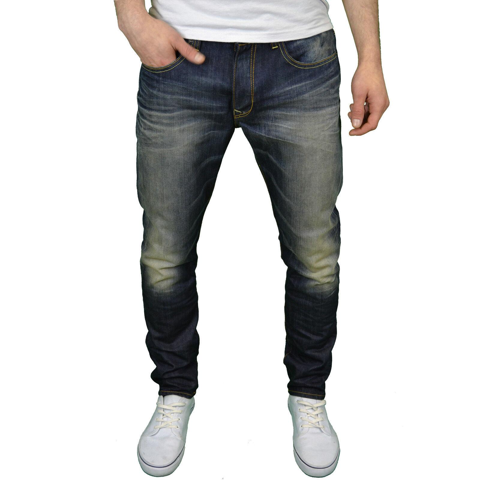Petrol Industries Herren Designer Marke konisch Vintage Wäsche Jeans