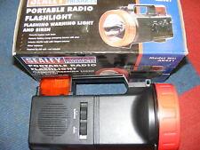 1 X SEALEY PORTABLE RADIO FLASHLIGHT AND SIREN AK431 (BOX55)