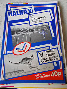 Halifax v Salford programme 271085 - <span itemprop=availableAtOrFrom>Warrington, Cheshire, United Kingdom</span> - Halifax v Salford programme 271085 - Warrington, Cheshire, United Kingdom