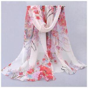 2f8f72d79c3 destockage foulard écharpe neuf 100% mousseline de soie fleurs fond ...