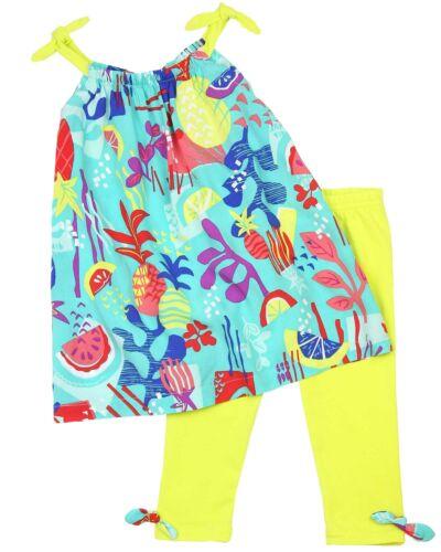 Sizes 12M-6 Deux par Deux Little Girls/' Top and Leggings Set Cold Press Fashion
