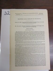 Vintage-government-report-civil-war-Maritime-canal-company-Nicaragua-1895-32