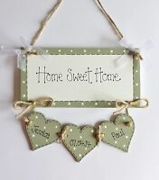 "Personalised New Home Family ""Home Sweet Home"" Plaque Sign Gift Keepsake"