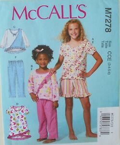 c5f47c2f60ea Image is loading McCalls-7278-Girls-Pajamas-Nightgowns-Sewing-Pattern-Sz-
