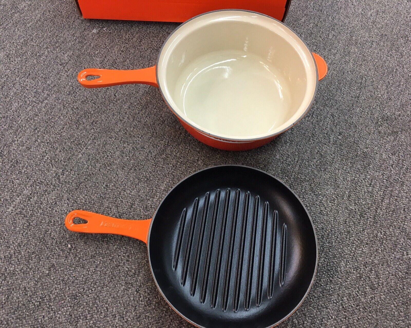 Le Creuset ronde fonte multifonction 2in1 Pan multifonction grill Couvercle 3.75 Q