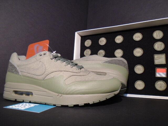 2015 Nike Air Max 1 V Patchs Patch en acier vert armée armée Patchs 704901-300 NEUF 7.5